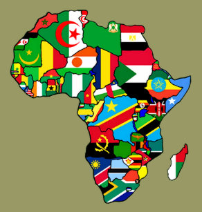 Map Of Africa With Flags.South African Flag Map Gifts Gift Ideas Zazzle Uk