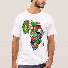 African Map of Africa flags within country maps T-Shirt