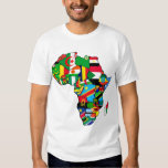 African Map of Africa flags within country maps Tshirts