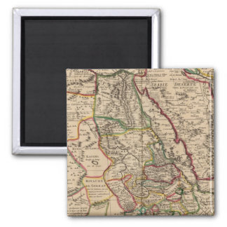 African map square magnet