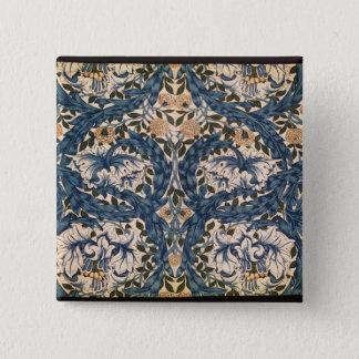 African Marigold' design, 1876 15 Cm Square Badge