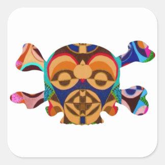 AFRICAN Mascot : Skulls Human n Monsters Square Sticker