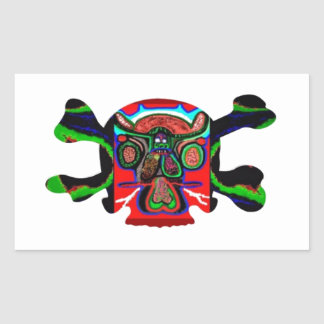 AFRICAN Mascot : Skulls Human n Monsters Rectangular Sticker
