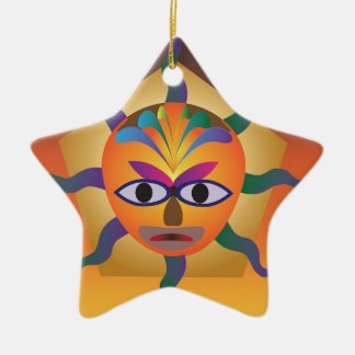 African Mask Christmas Ornament