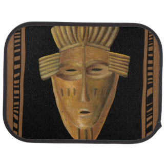 African Mask Painting by Chariklia Zarris Car Mat