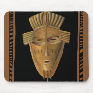 African Mask Painting by Chariklia Zarris Mouse Mat