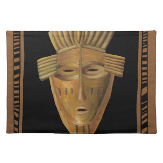 African Mask Painting by Chariklia Zarris Placemat