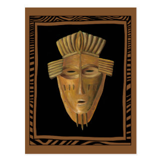 African Mask Painting by Chariklia Zarris Postcard