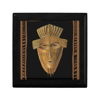 African Mask Painting by Chariklia Zarris Small Square Gift Box