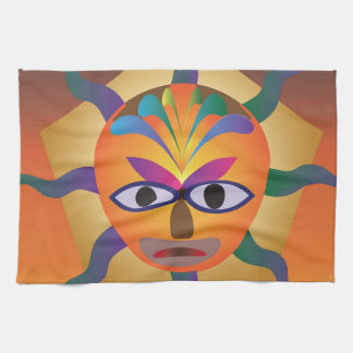 African Mask Tea Towel