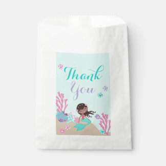 African Mermaid Under the Sea Thank You Favour Bags