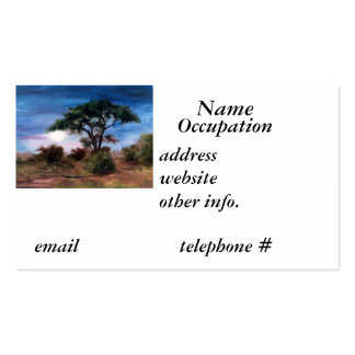 African Moon Business Card