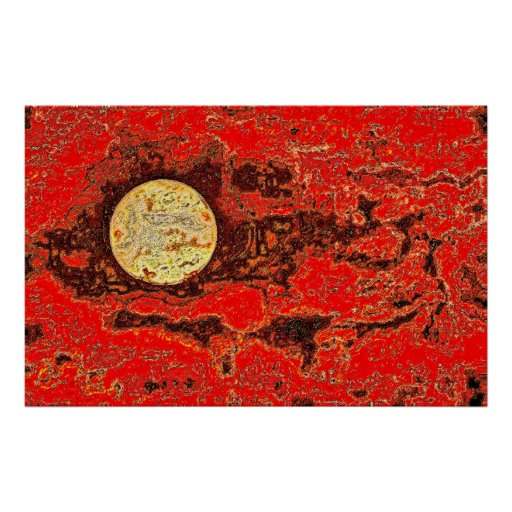 African Moon Print