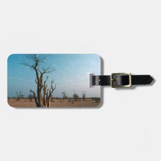 African Moringo Tree On Plain, Etosha National Luggage Tag
