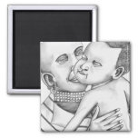 African Mother and Child (Kimberly Turnbull Art) Fridge Magnet