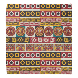 African Motif Colorful Decorative Pattern Design Bandana