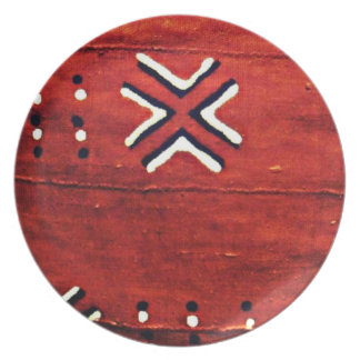 African mud cloth print plate