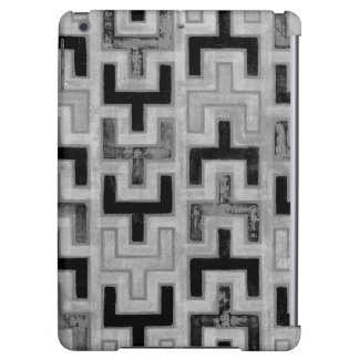 African Mudcloth Textile with Geometric Patterns
