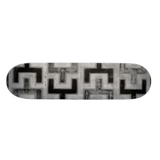 African Mudcloth Textile with Geometric Patterns 21.6 Cm Skateboard Deck