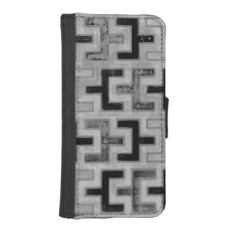 African Mudcloth Textile with Geometric Patterns iPhone SE/5/5s Wallet Case