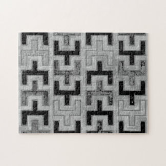 African Mudcloth Textile with Geometric Patterns Jigsaw Puzzle