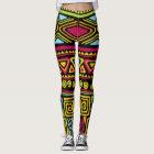 African Multi Colour Pattern Print Desigm Leggings