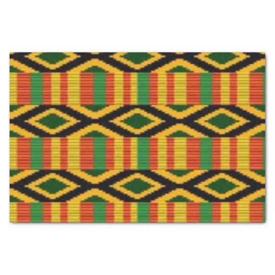African Multi Colour Pattern Print Design Tissue Paper