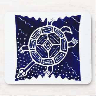 African mythical icon turtle mousepad