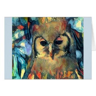 African Owl Card