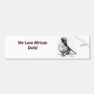 African Owl Pigeon 1978 Bumper Sticker