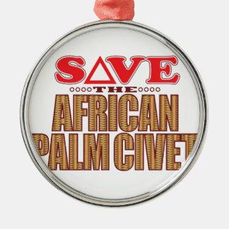 African Palm Civet Save Christmas Ornament