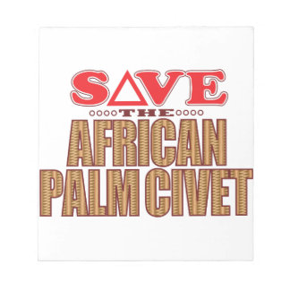 African Palm Civet Save Notepad