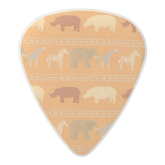 African pattern acetal guitar pick