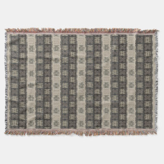 african  pattern.Adinkra simbols Throw Blanket