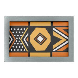African pattern belt buckle