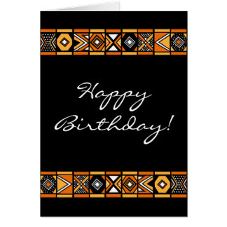 African pattern greeting cards