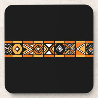 African pattern coasters
