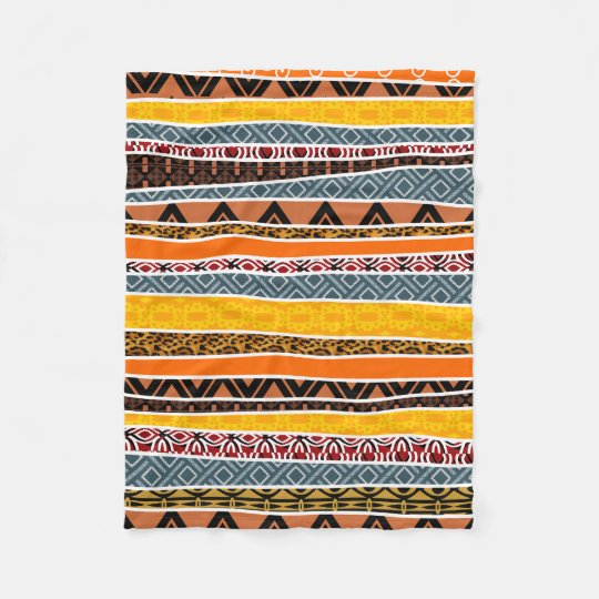 African Pattern Mix Fleece Blanket