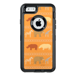 African pattern OtterBox defender iPhone case