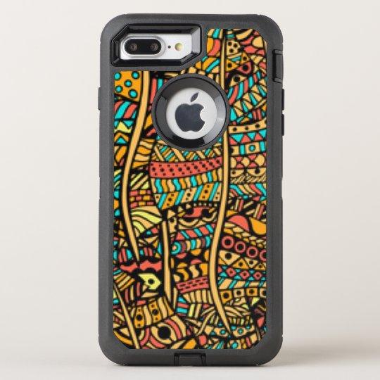 African Pattern Print OtterBox Defender iPhone 8 Plus/7 Plus Case