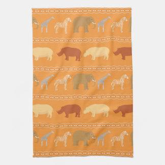 African pattern tea towel