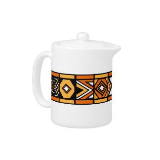 African pattern teapot