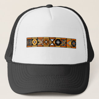 African pattern trucker hat