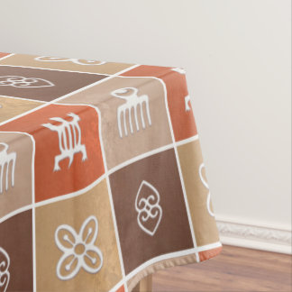african  pattern with Adinkra simbols Tablecloth