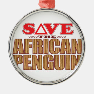 African Penguin Save Christmas Ornament