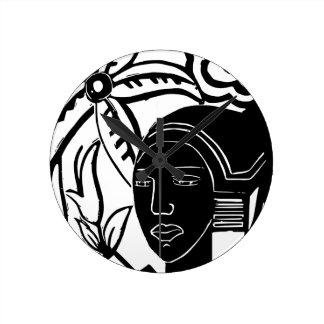 African Phantasy Round Clock