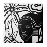African Phantasy Small Square Tile