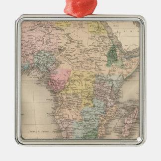 African Politics Silver-Colored Square Decoration