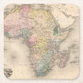 African Politics Square Paper Coaster