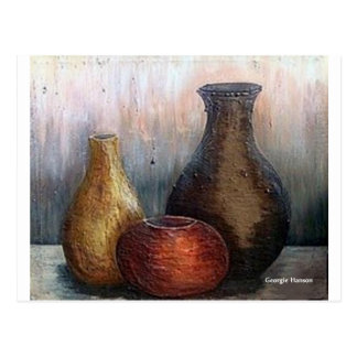 African Pottery by Georgie Hanson Postcard